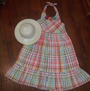 Gymboree girls Plaid Halter Sun Dress sz 12